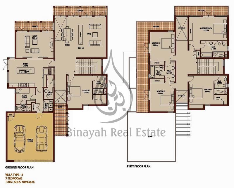 Saheel Type 5 Floor Plan Arabian Ranches Saheel Type 9