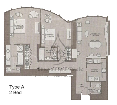 Apartment for sale and rent in downtown dubai for Apartment floor plans pdf