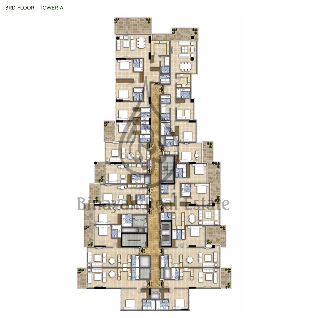 Burj khalifa 4 bedroom apartment floor plan for Apartment design pdf