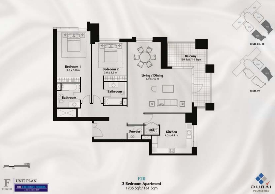 Executive tower b floor plan thefloors co for Apartment design pdf