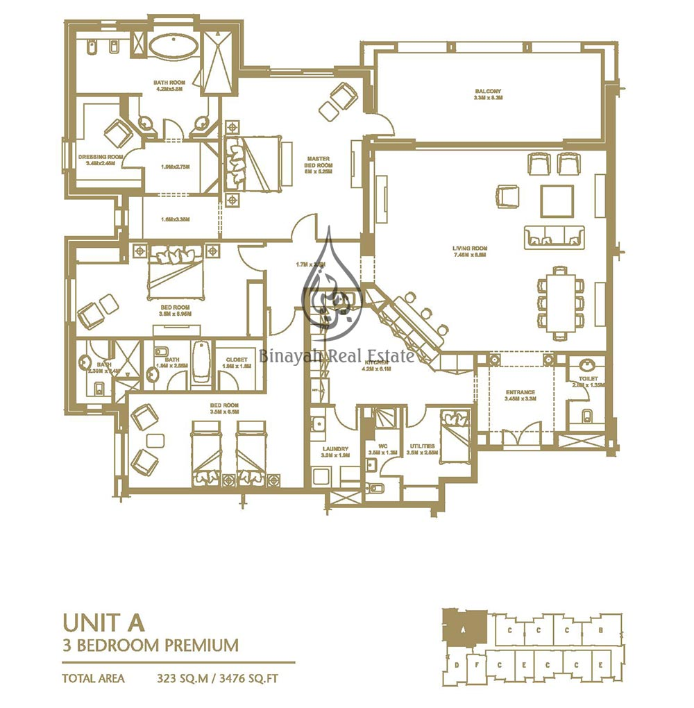 Garden homes floor plans palm jumeirah for Apartment design plans pdf