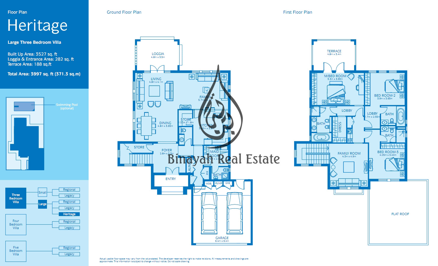 Jumeirah park villa or townhouse for sale and rent for Floor plans jumeirah heights