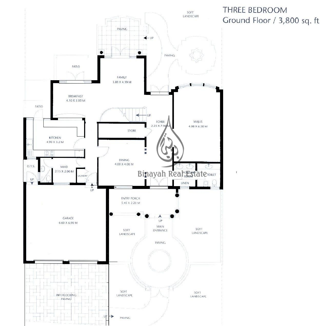 Garden homes palm jumeirah floor plan house design plans Ground floor 3 bedroom plans