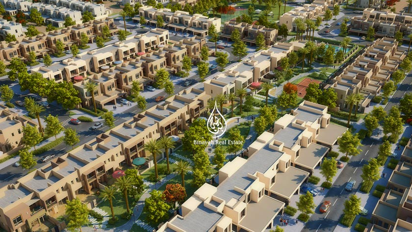 Noor Townhouses in Town Square by Nshama